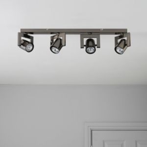 View Theatre Black Nickel Effect 4 Lamp Bar Spotlight details