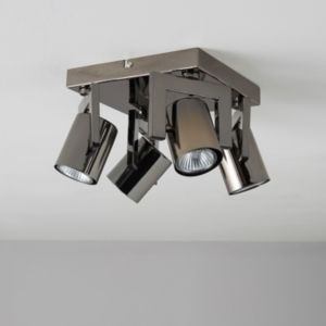 View Theatre Black Nickel Effect 4 Lamp Spotlight details