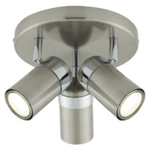 View Plexo Chrome Effect 3 Lamp Round Spotlight details