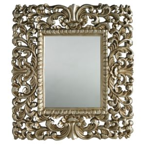 View Colours Antique Gold Effect Rectangular Mirror (L)440mm (W) 400mm details