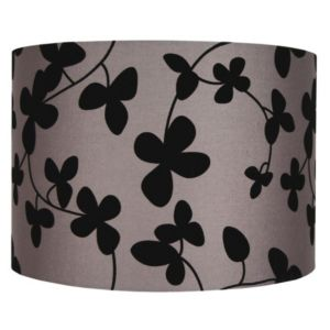 View Colours Christina Black & Taupe Flock Light Shade (D)35.3cm details