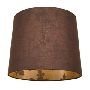 View Colours Constance Brown Linen Effect Light Shade details