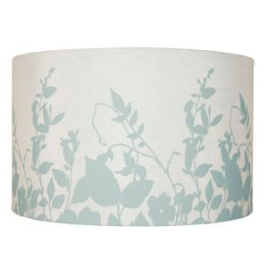 View Colours Claudia Duck Egg Blue Floral Silohette Light Shade details
