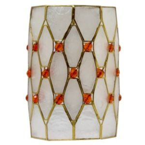 View Lights By B&Q Gold Effect Jeweled Light Shade (D)13cm details