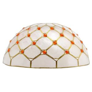 View Lights By B&Q Capiz Gold Effect Capiz Dome Light Shade details