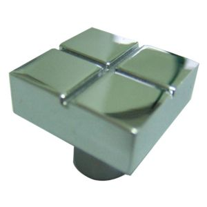 View B&Q Polished Chrome Effect Square Furniture Knob, Pack of 1 details