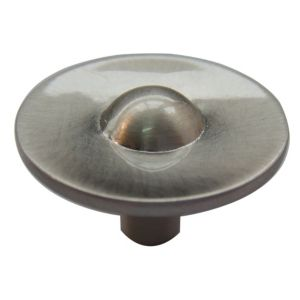View B&Q Satin Nickel Effect Round Furniture Knob, Pack of 1 details