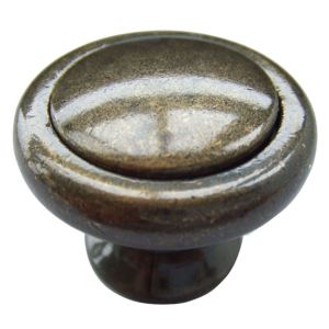View B&Q Bronze Effect Round Furniture Knob, Pack of 1 details