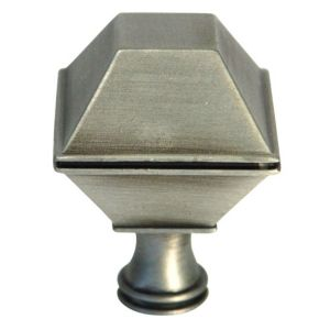 View B&Q Pewter Effect Square Furniture Knob, Pack of 1 details