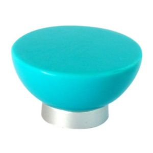 View B&Q Blue Round Furniture Knob, Pack of 1 details