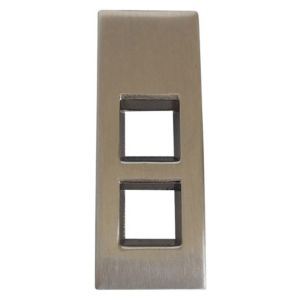 View B&Q Satin Nickel Effect Drop Furniture Pull Handle, Pack of 1 details