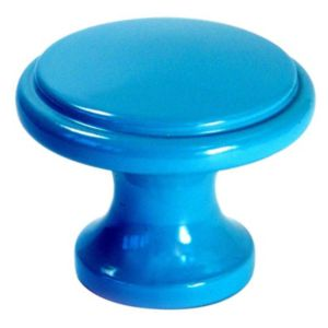 B&Q/Building & Timber Products/Building materials & accessories/B&Q Blue Painted Round Furniture Knob  Pack of 1