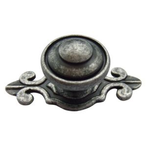 View B&Q Pewter Effect Round Furniture Knob, Pack of 1 details