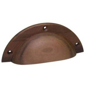 View B&Q Walnut Effect Pull Pack of 1 details