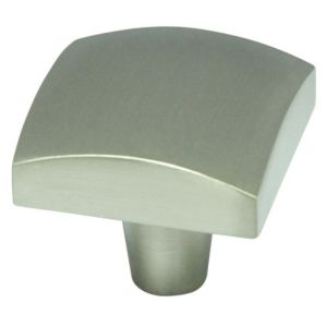 View B&Q Satin Nickel Effect Square Furniture Knob, Pack of 1 details