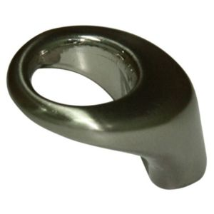 View Nickel Effect Modern Oval Cabinet Knob details