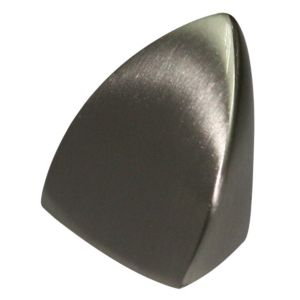 View Nickel Effect Modern Moulded Curve Cabinet Knob details