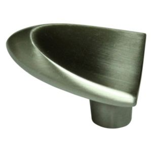 View Nickel Effect Modern Fingertip Cabinet Knob details