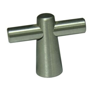 View Nickel Effect T-Bar Cabinet Handle details