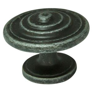View Cooke & Lewis Hammered Pewter Effect Round Cabinet Knob, Pack of 1 details