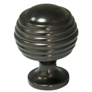 View Cooke & Lewis Oil Rubbed Bronze Effect Round Cabinet Knob, Pack of 1 details
