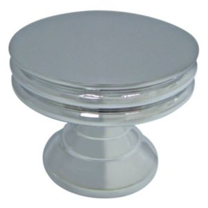 Cooke & Lewis Chrome Effect Round Cabinet Knob  Pack of 1