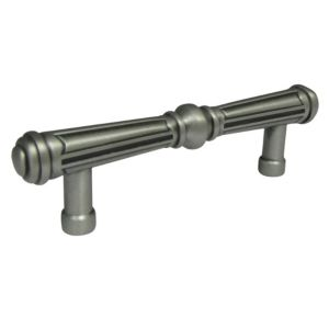 View B&Q Hammered Pewter Effect Bar Handle Pack of 1 details
