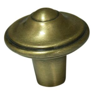 View Cooke & Lewis Antique Brass Effect Round Cabinet Knob, Pack of 1 details