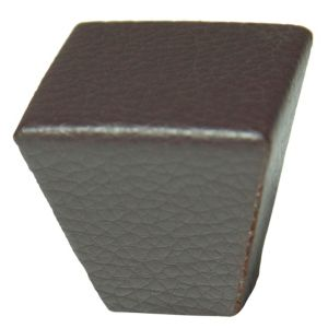 View Cooke & Lewis Faux Leather Effect Square Cabinet Knob, Pack of 1 details