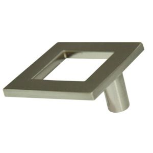View Cooke & Lewis Satin Nickel Effect Square Cabinet Knob, Pack of 1 details