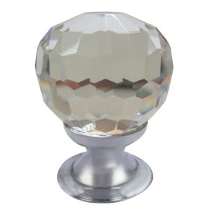 View B&Q Chrome Effect Round Knob Pack of 1 details
