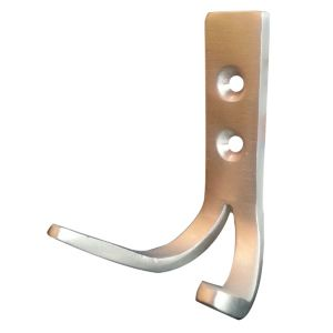 View B&Q Polished Aluminium Double Wall Hook details