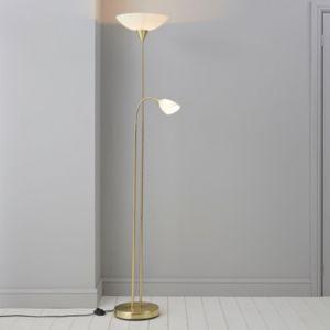 Image of Carpio Gold effect Incandescent Floor lamp