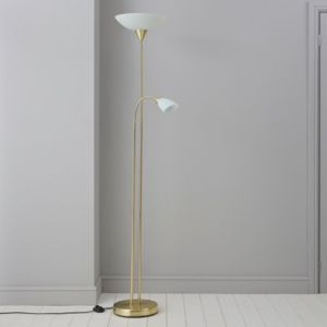 View Carpio Antique Brass Effect Floor Lamp details