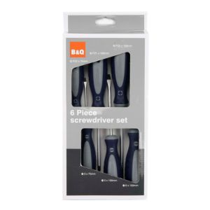 View B&Q Vanadium Steel Multi Screwdriver, Set of 6 details