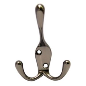 View B&Q Black Zinc Alloy Hat & Coat Hook details