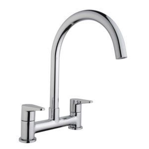 View Cooke & Lewis Tone Chrome Effect Deck Mixer Tap details