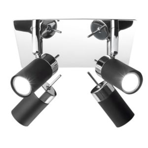 View Lights By B&Q Vilnius Black 4 Spotlight details