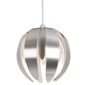 View Lights By B&Q Canna Aluminium Effect Petal Light Shade (D)27cm details