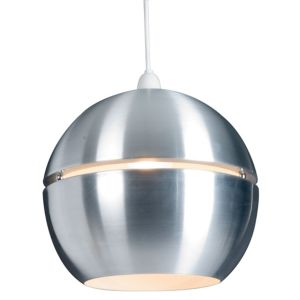 View Lights By B&Q Rainbow Aluminium Effect Spherical Light Shade details