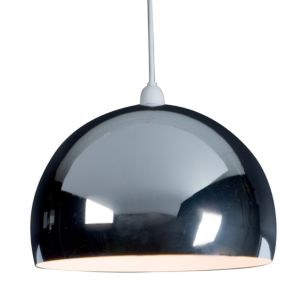 View B&Q Horizon Chrome Effect Domed Light Shade details