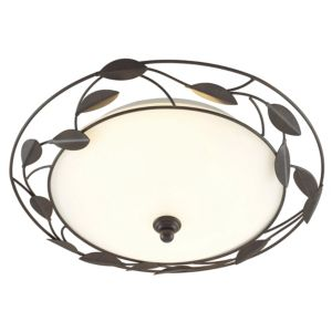 View Cloe Chocolate Frosted Effect 2 Lamp Ceiling Light details