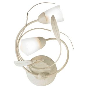 View Cloe Leaf Swirl Cream Double Wall Light details