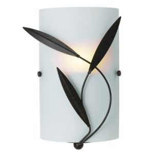 View Cloe Chocolate Frosted Effect Single Wall Light details