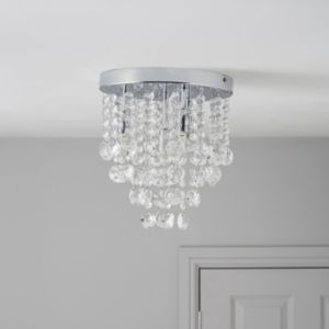 View Glimmer Chrome Effect 4 Lamp Ceiling Light details
