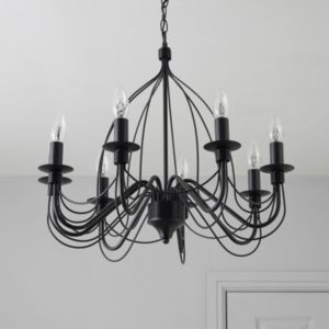 View Vas Birdcage Black 8 Lamp Pendant Ceiling Light details