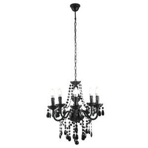 Image of Wickham Black 5 Lamp Chandelier Ceiling light