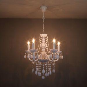 Image of Wickham White 5 Lamp Pendant ceiling light