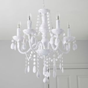 View Wickham White 5 Lamp Pendant Ceiling Light details
