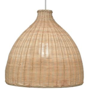 View Colours Zena Beige Rattan Light Shade details